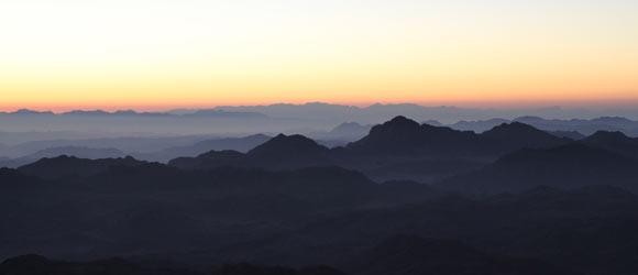 Aurore sur le mont Moïse, photo Serge Briez