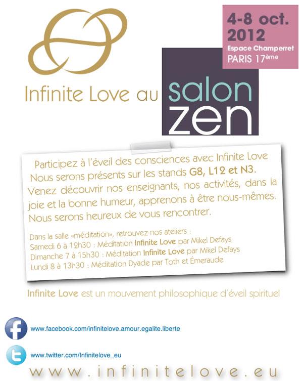 Emailing salon ZEN 2012, Infinite Love