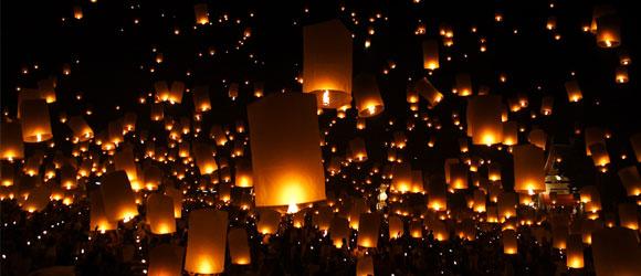 torches dans la nuit
