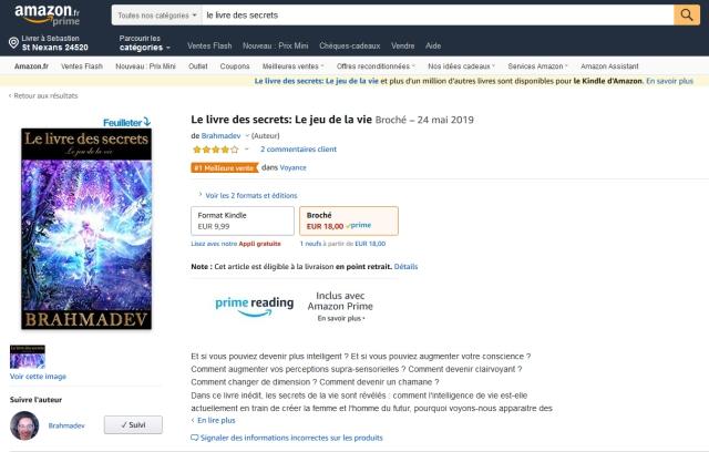 Numero 1 Des Ventes Sur Amazon Fr Le Livre Des Secrets